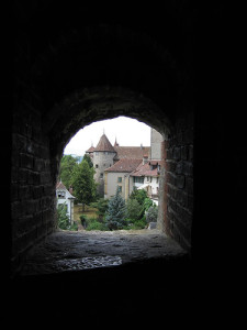 View out of the old city fortification