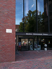 Malden Government Center entrance signage
