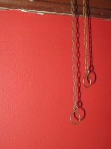 Clock chain pulls.