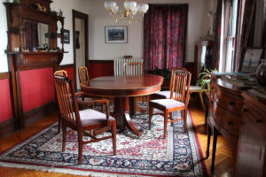 The furniture at home in the dining room